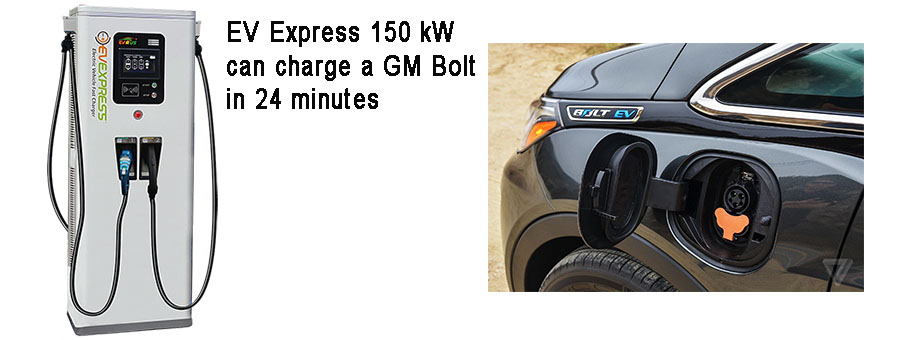 EV Express chargers GM Bolt