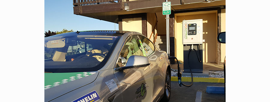 Tesla charged at EV Expressin Santa Nella